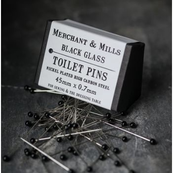 Black Glass Toilet Pins